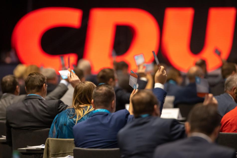 Delegierte auf dem Landesparteitag der Thüringer CDU.