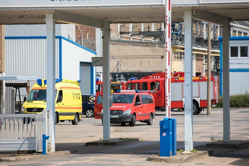 In Brand-Erbisdorf brannte es am Sonntag auf einem Firmengelände an der Berthelsdorfer Straße.