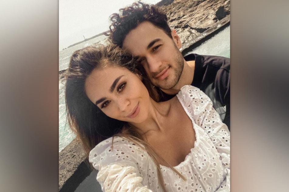 Melissa Damilia (25) und Leander Sacher (23) zeigen sich verliebt bei Instagram.