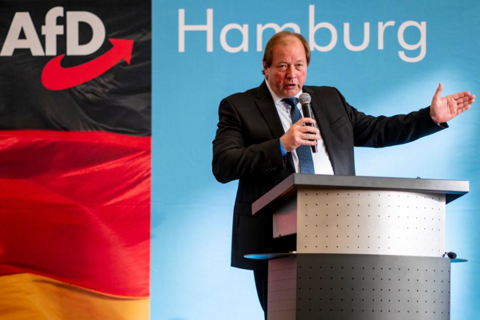 Dirk Nockemann (62) ist Landesvorsitzender und Fraktionschef der AfD in Hamburg.