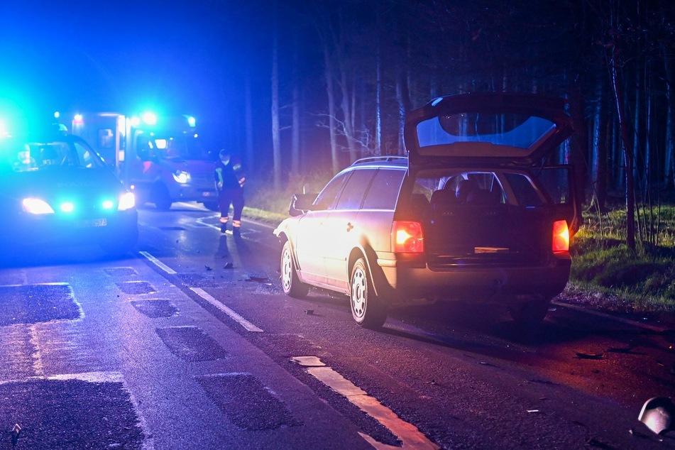 Der VW Passat, welcher dem Citroen ins Heck fuhr.