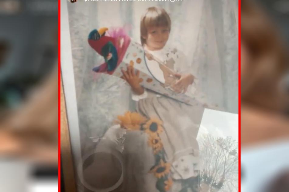 Ist sie nicht goldig? Dieses süße Foto zeigte Julia von sich in jungen Jahren.