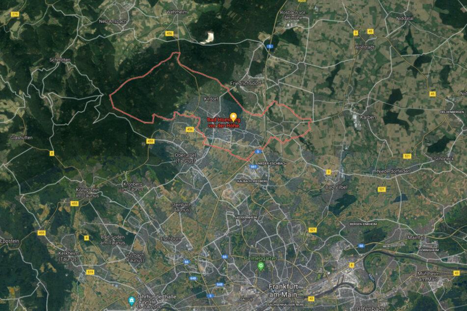 Der BMW fing auf der A5 bei Bad Homburg aus noch nicht geklärter Ursache plötzlich Feuer.