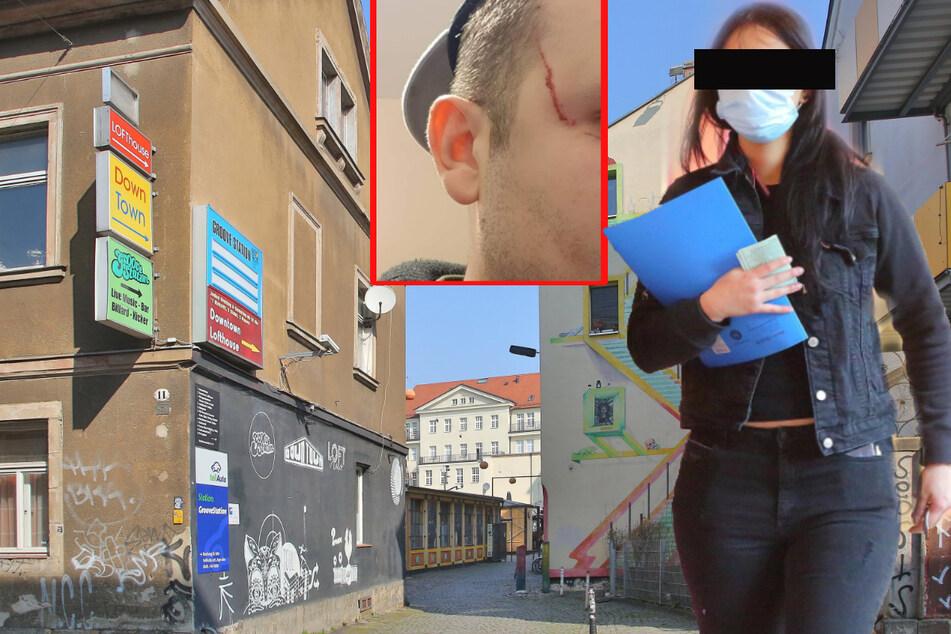 Dresden: Streit ums Geld: Frau soll Kellner im Downtown blutig geschlagen haben