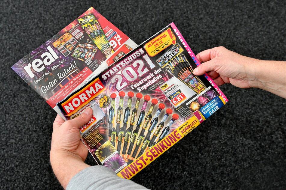 Werbung für Feuerwerkskörper - trotz des Verbots? Die Erklärung ist ganz einfach.