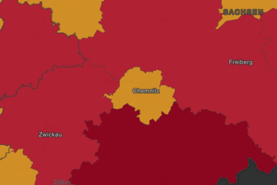 Laut dem Robert Koch-Institut ist die Stadt Chemnitz nicht als Risikogebiet eingestuft.