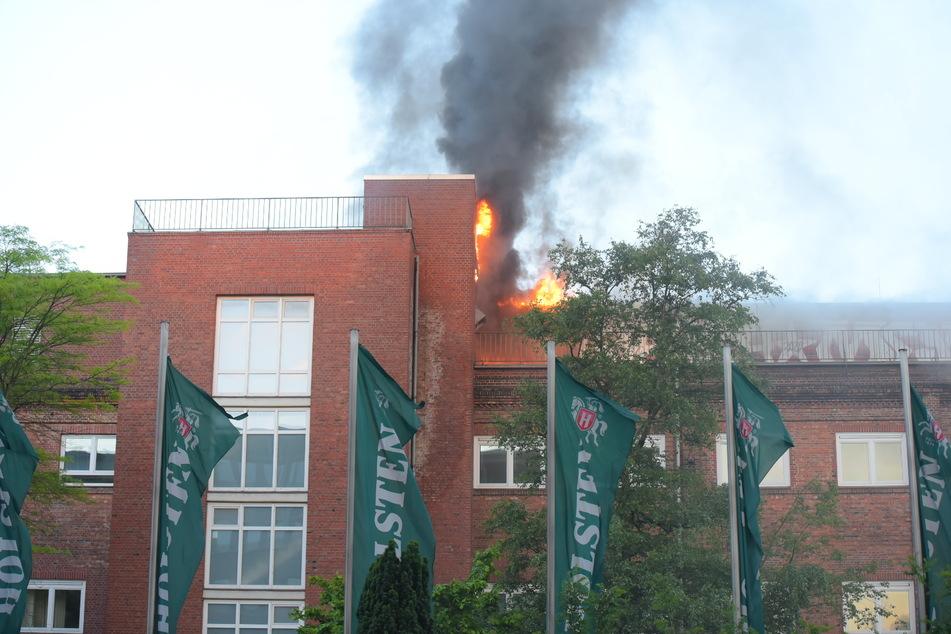 Hamburg: Feuer in Hamburger Holstenbrauerei ausgebrochen: War es Brandstiftung?