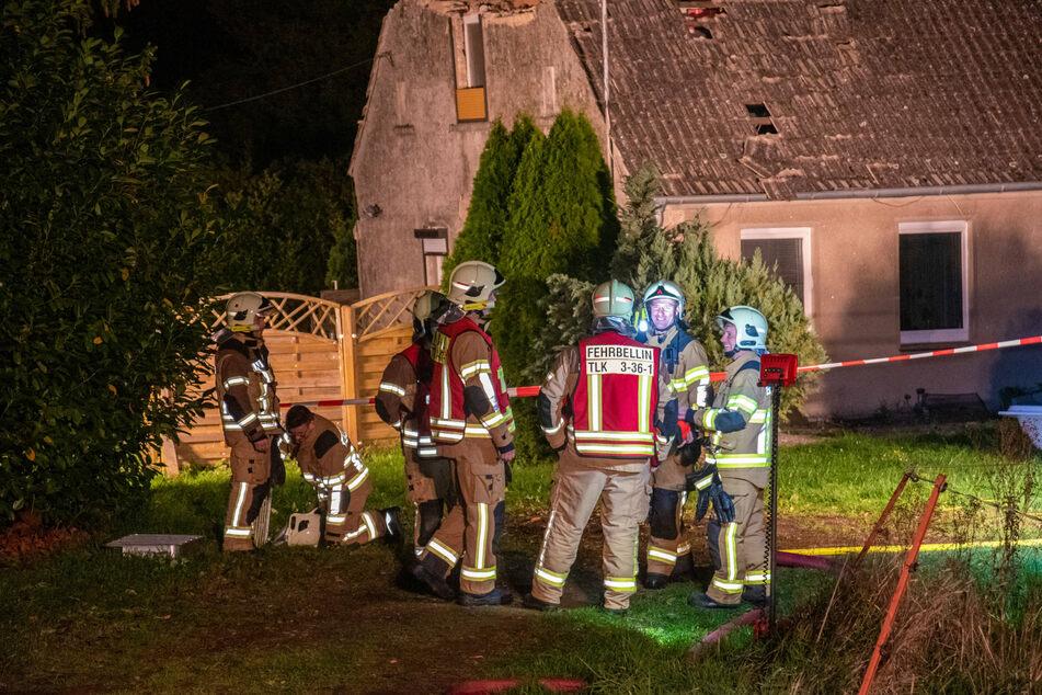Explosion in Einfamilienhaus: Bewohner schwer verletzt