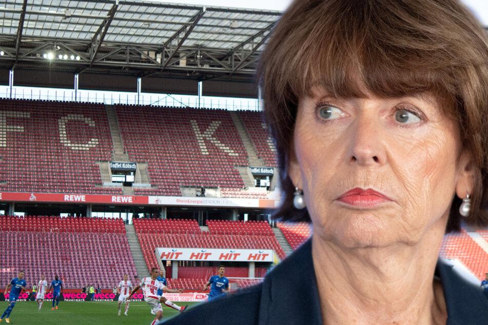 Die Kölner Oberbürgermeisterin Henriette Reker (63) wirbt im Vorfeld der Stichwahl für Verständnis, dass das Spiel des 1. FC Köln gegen 1899 Hoffenheim (2:3) am Samstag unter Ausschluss der Öffentlichkeit stattgefunden hat.