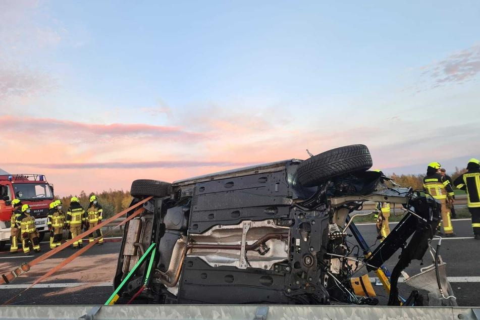 Bei einem schweren Unfall auf der A72 sollen am Montag zwei Menschen verletzt worden sein.
