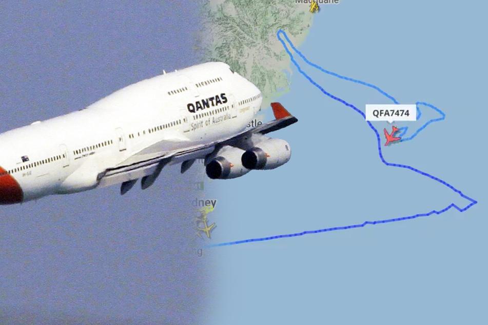 Nicht gerade der direkte Weg! Welche kuriose Route nimmt denn dieses Flugzeug?