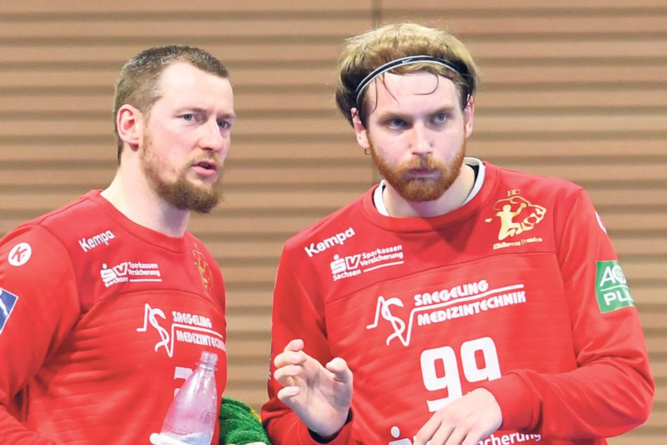 Die Torhüter Mario Huhnstock (l.) und Max Mohs harmonierten gut miteinander.