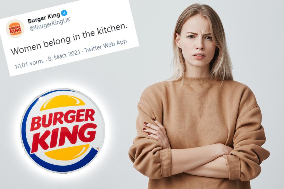 """""""Frauen gehören in die Küche"""": Burger King sorgt mit Tweet für Empörung"""