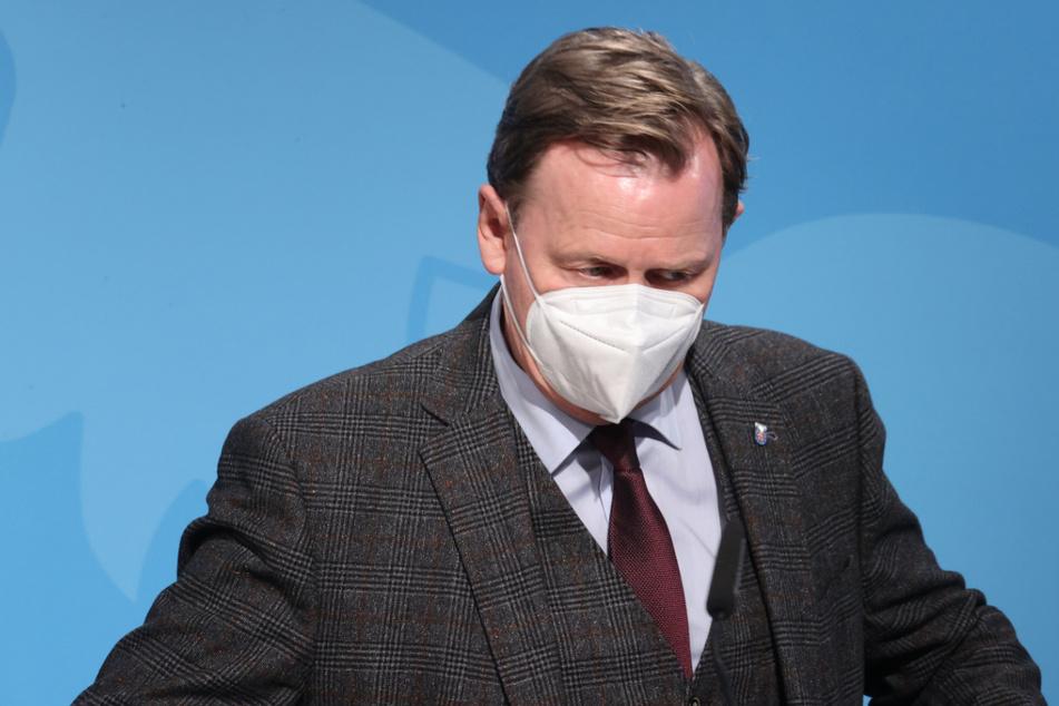 Thüringens Ministerpräsident Bodo Ramelow (64, Linke) stellte am Dienstag den Corona-Öffnungsplan vor.