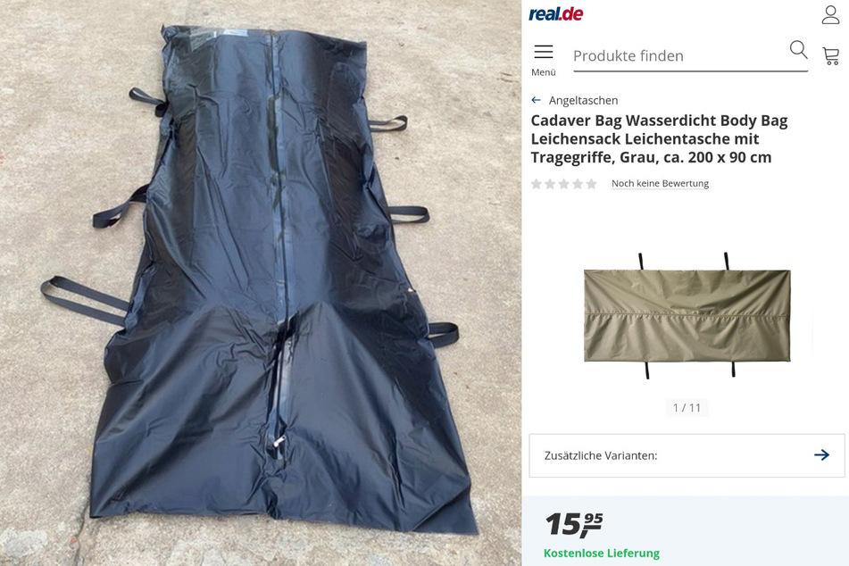 Auslaufsicher und reißfest: Der angebotene Leichensack in der günstigen Variante.