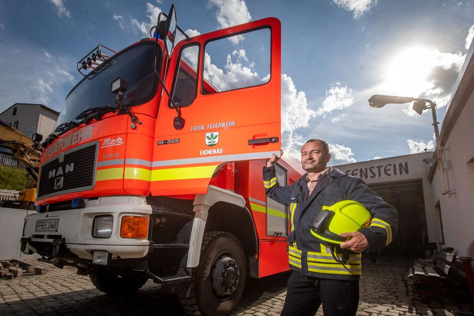 Nach spektakulärem Umfall-Unfall: Scharfensteiner Wehr löscht jetzt mit Leih-Auto aus Bayern