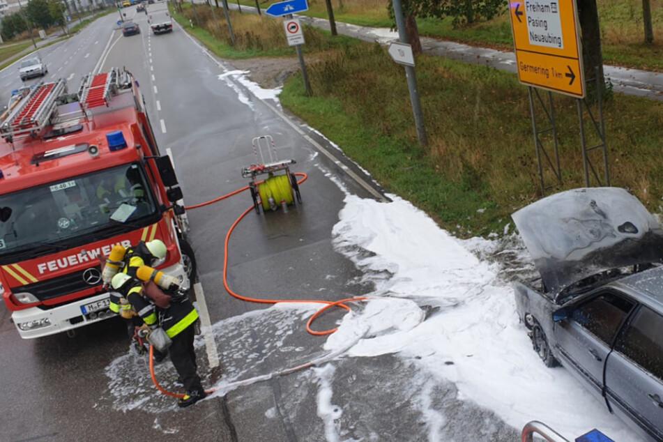 München: Audi brennt in München lichterloh, doch der Feuerwehr wird das Löschwasser knapp