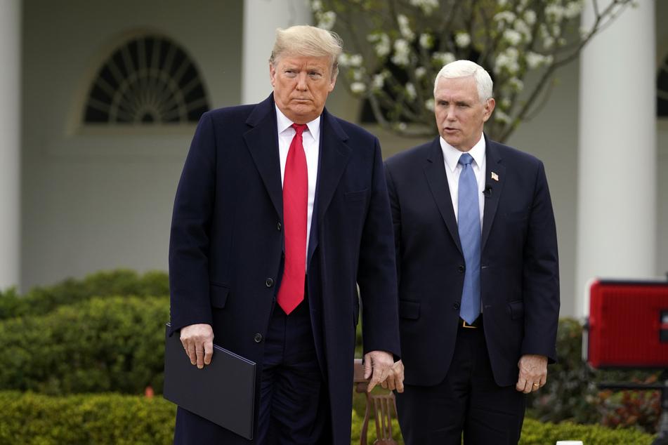 Donald Trump (l.), Präsident der USA, und US-Vizepräsident Mike Pence.
