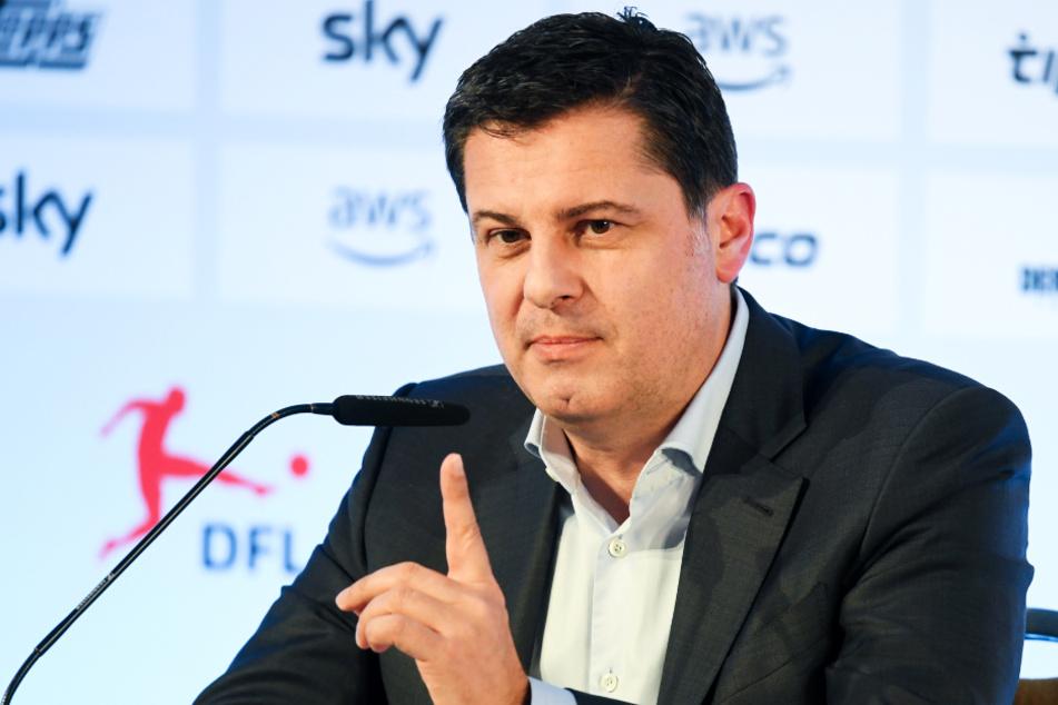 DFL-Geschäftsführer Christian Seifert gab die Entscheidung auf einer Video-Pressekonferenz bekannt.