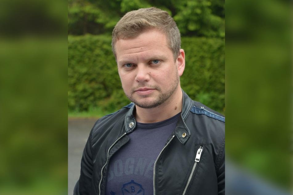 Steht zu seiner Arbeit: Bereitschaftspolizist Michael Specht (35, CDU).