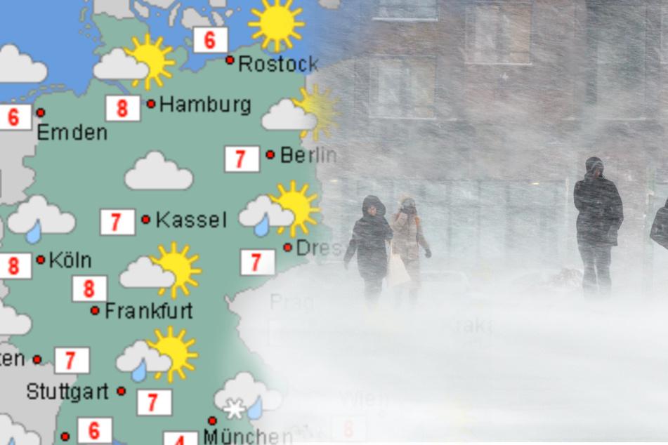 Aprilwetter im März: Es bleibt ungemütlich, Graupelgewitter drohen!