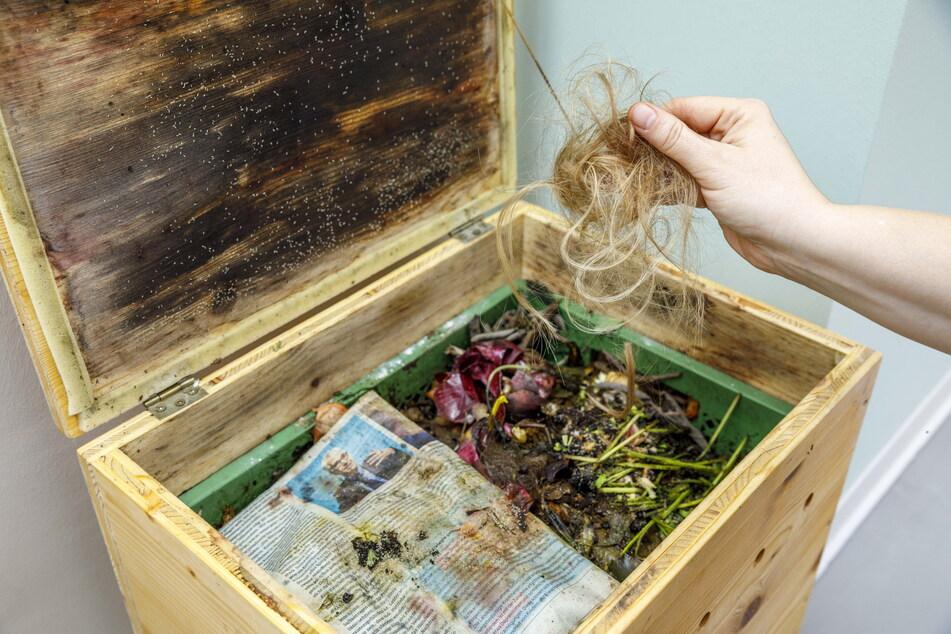 Haare kommen nicht in den Müll, sondern werden kompostiert.
