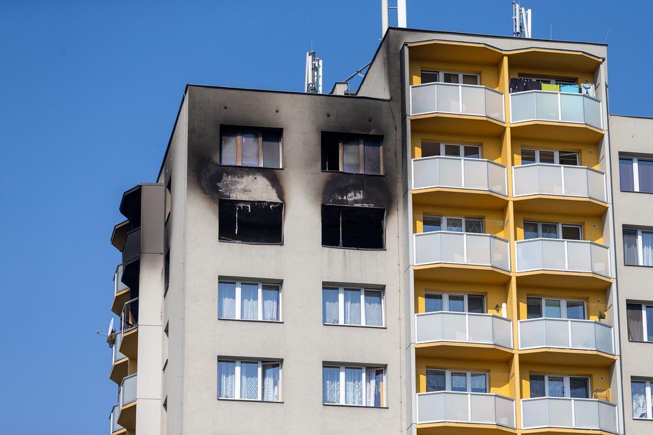 Bei dem verheerenden Brand in diesem 13-Geschosser in Tschechien starben elf Menschen, darunter drei Kinder.