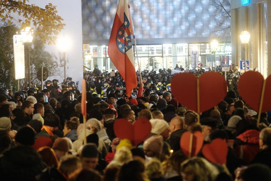 Am Samstag wurde in Leipzig wieder demonstriert.