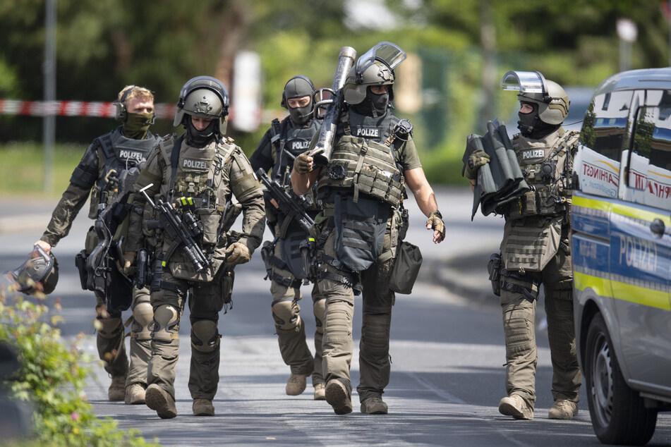 Beamte eines Spezialeinsatzkommandos der Polizei. (Symbolbild)
