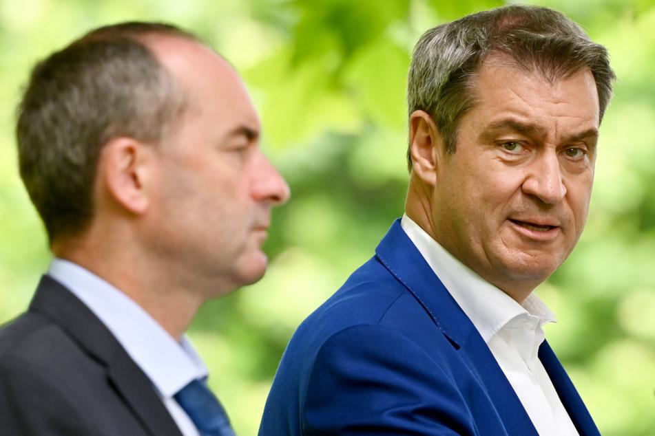 Der bayerische Ministerpräsident Markus Söder (54, CSU, r.) macht weiter Druck für eine Corona-Testpflicht bei Urlaubsrückkehrern.