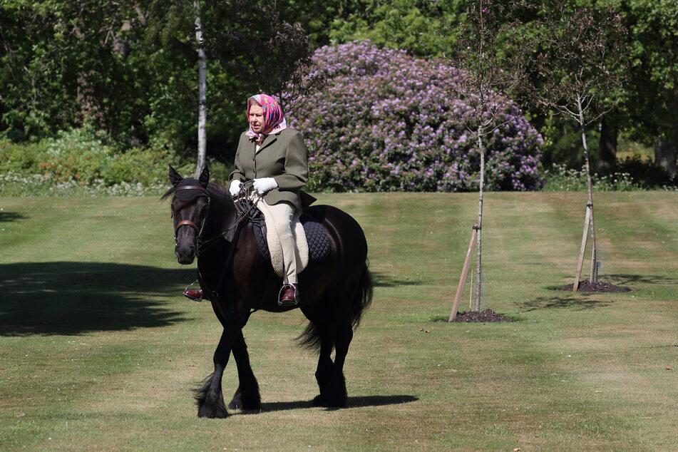 Die Queen bei ihrem Reitausflug auf ihrem Pferd Balmoral Fern.