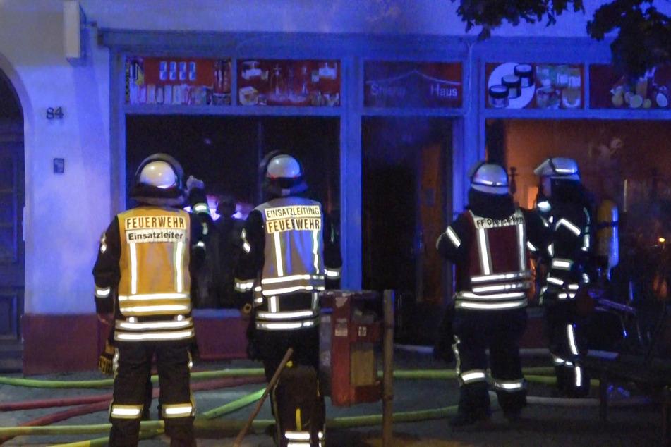 Die Shisha-Bar wurden durch den Brand komplett zerstört.