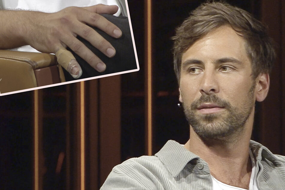 Autsch! Bei seinem Besuch im Riverboat musste Sänger Max Giesinger (32) einen Verband um seinen gebrochenen kleinen Finger tragen.