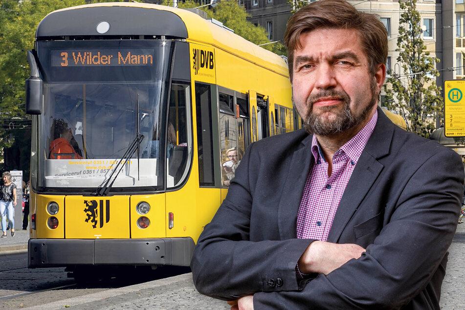 Statt zu kürzen, will Linke-Rat Jens Matthis (54) den DVB-Zuschuss von 40 auf 80 Millionen verdoppeln.