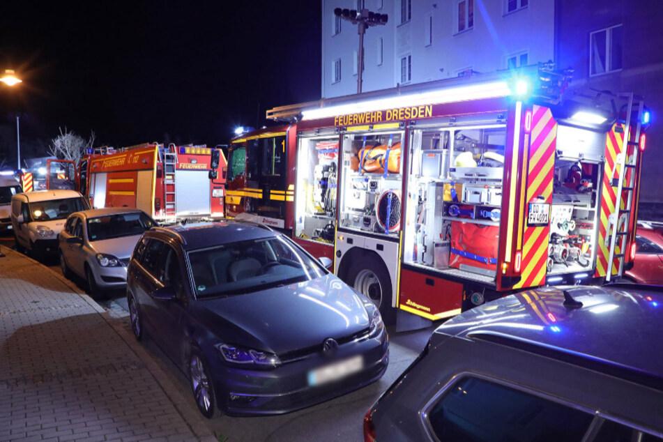 Mit mehreren Löschzügen rückte die Feuerwehr in der Nacht aus.