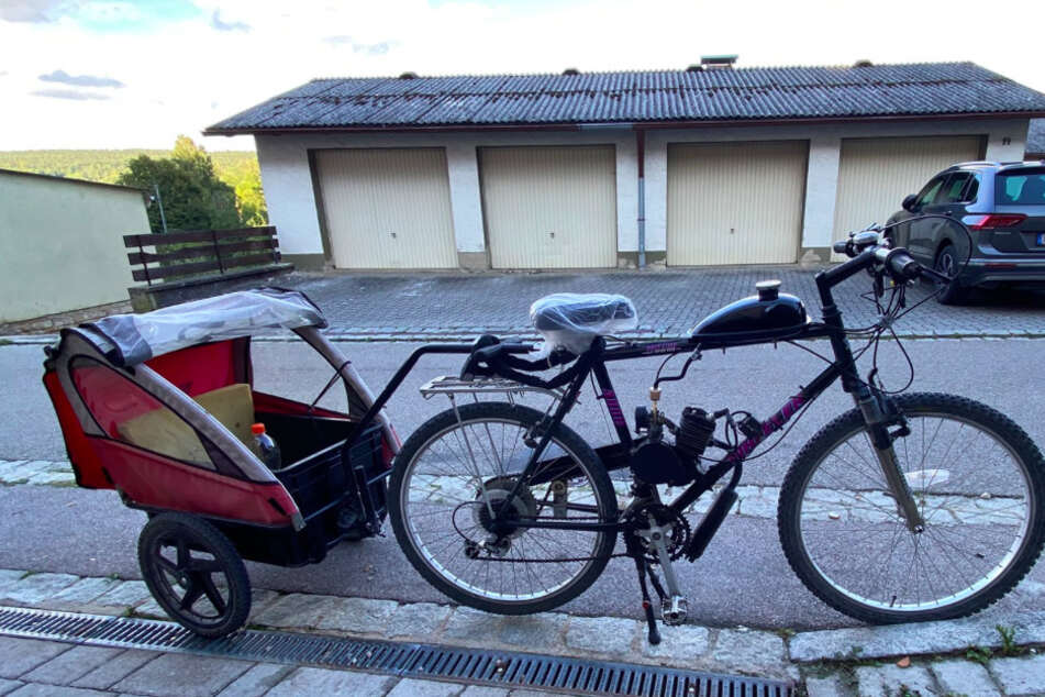 Auf diesem frittierten Rad mit Benzinmotor war ein Mann in Mittelfranken unterwegs.