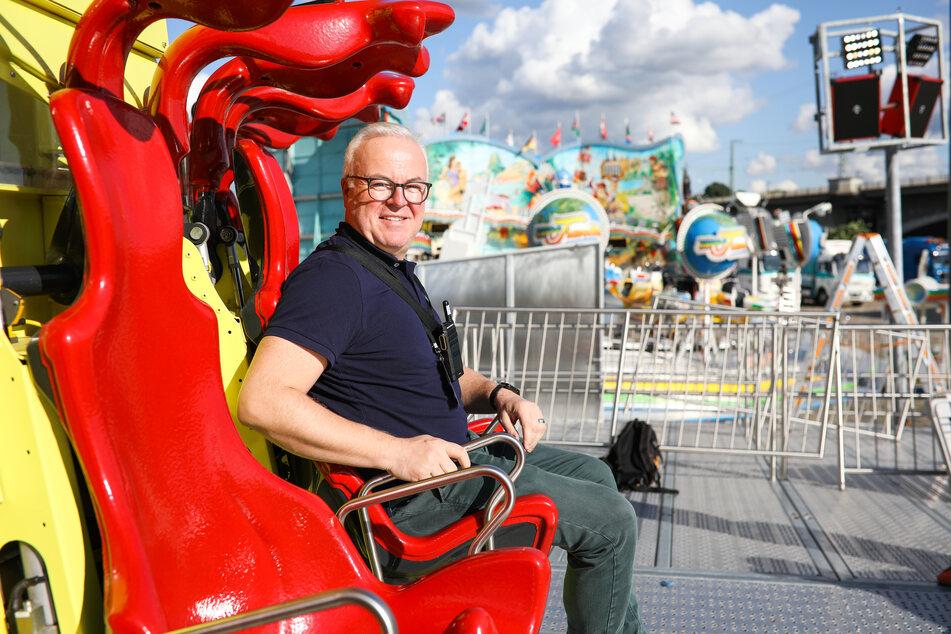 Stadtfest-Organisator Frank Schröder (52). Er freut sich vor allem auf das Abschlussfeuerwerk am Sonntag 22 Uhr.