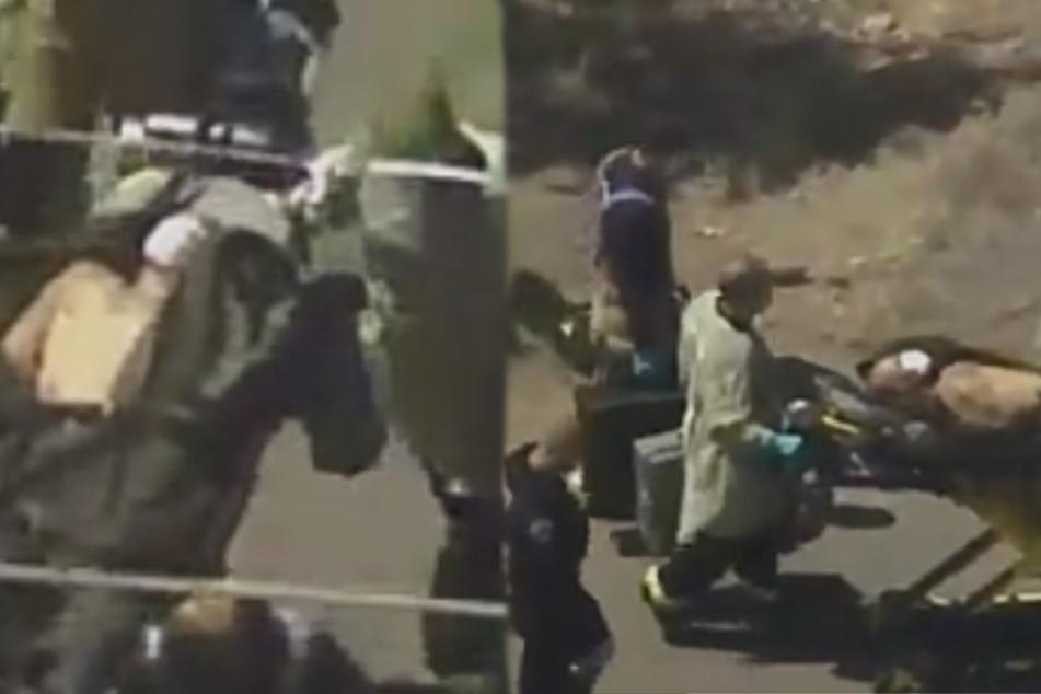 Mann schießt auf drei Polizisten, dann zündet er ein Haus an