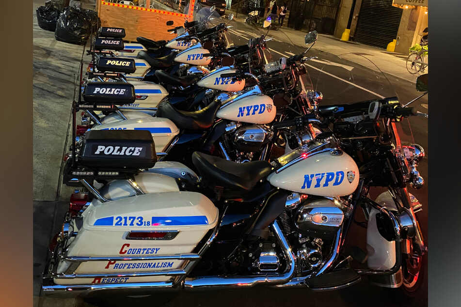NYPD vehicles on the streets of New York.