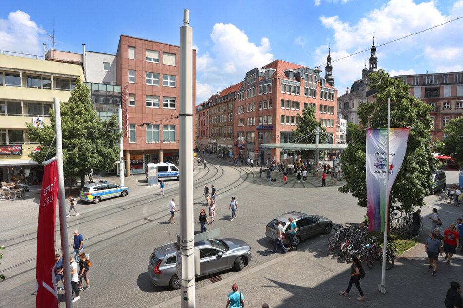 Blick auf den Barbarossaplatz am Samstag.