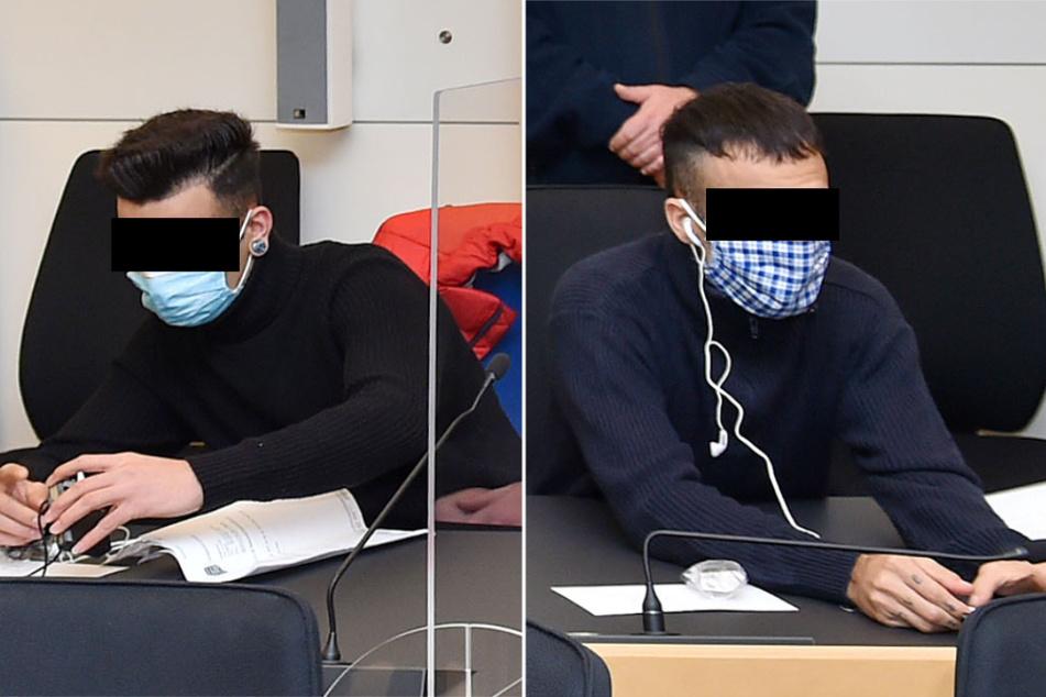 Die Brüder Hussein (19, l.) und Sajad A. (20) müssen sich wegen gefährlicher Körperverletzung und versuchtem Totschlag vor dem Landgericht verantworten.