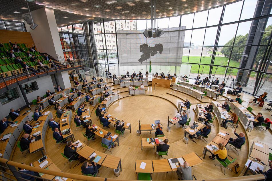 Der Dresdner Landtag bei seiner Sitzung am Mittwoch.