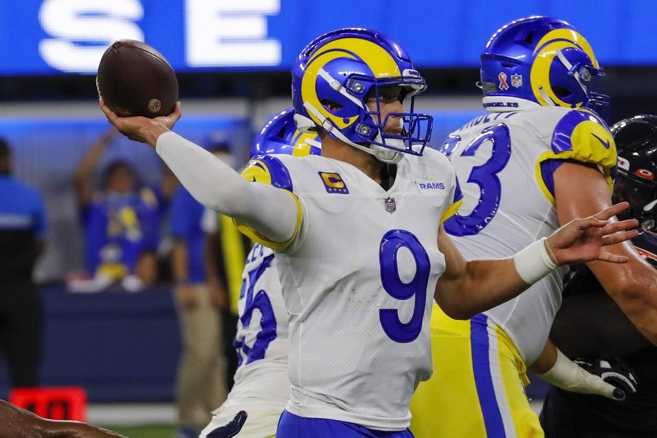 New LA Rams quarterback Matthew Stafford threw three touchdowns in his debut on Sunday.
