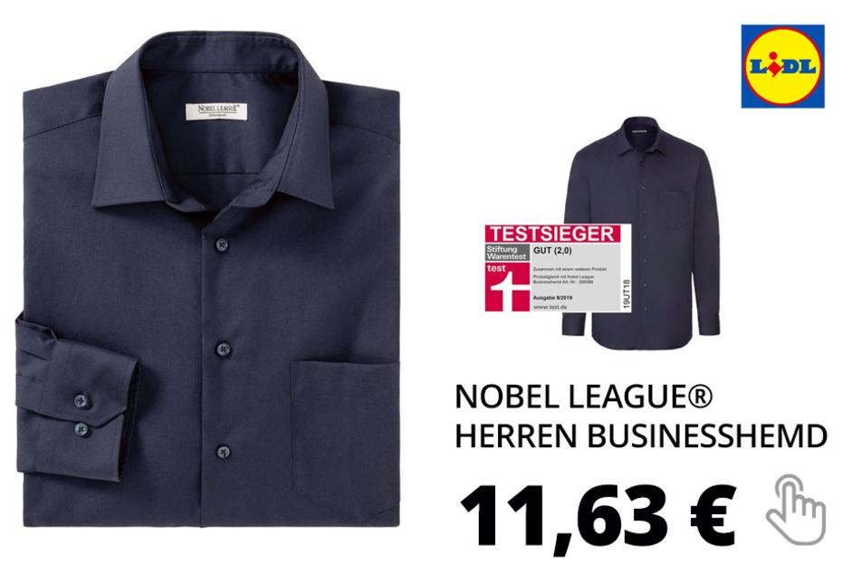 NOBEL LEAGUE® Herren Businesshemd – dunkelblau