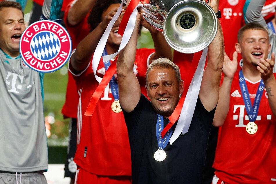 """Von der Ersatzbank in den Olymp: Bayern-Chef-Trainer Hansi Flick (M.): """"Wir haben es uns auch verdient, richtig zu feiern."""""""