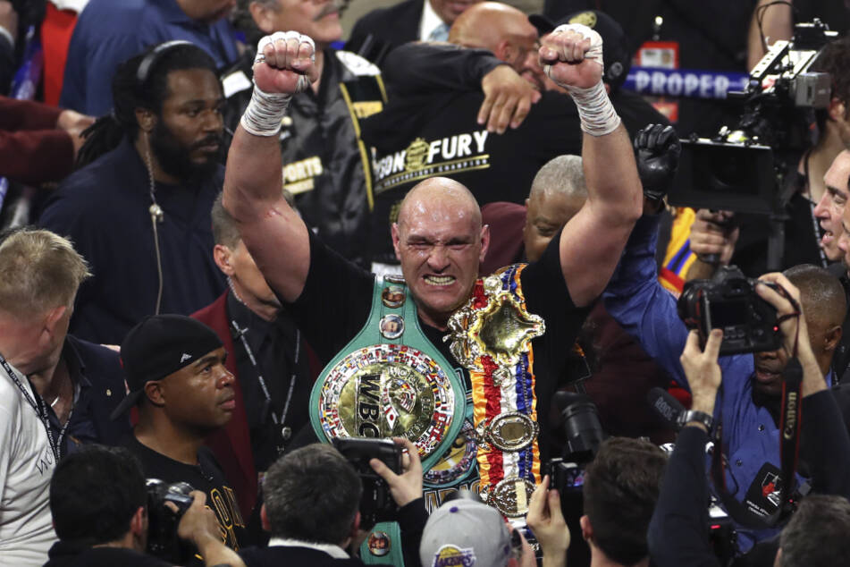 Bejubelt seinen Triumph: Tyson Fury (31)