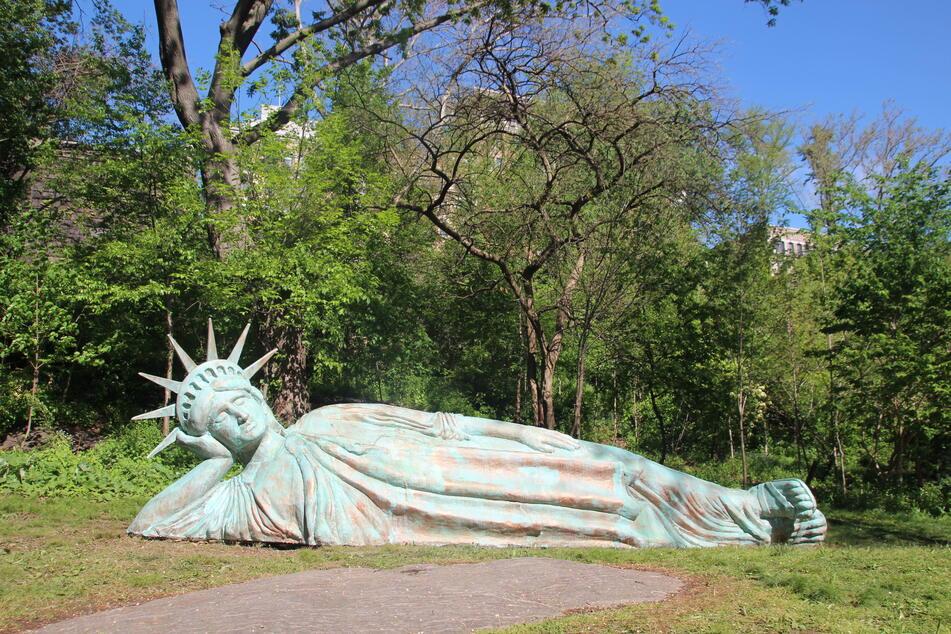 """Die neue """"Lady Liberty"""" im Stadtteil Manhattan von New York."""