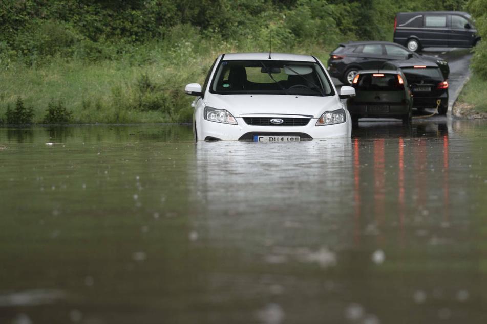 Heftige Unwetter setzen Teile von Hessen unter Wasser