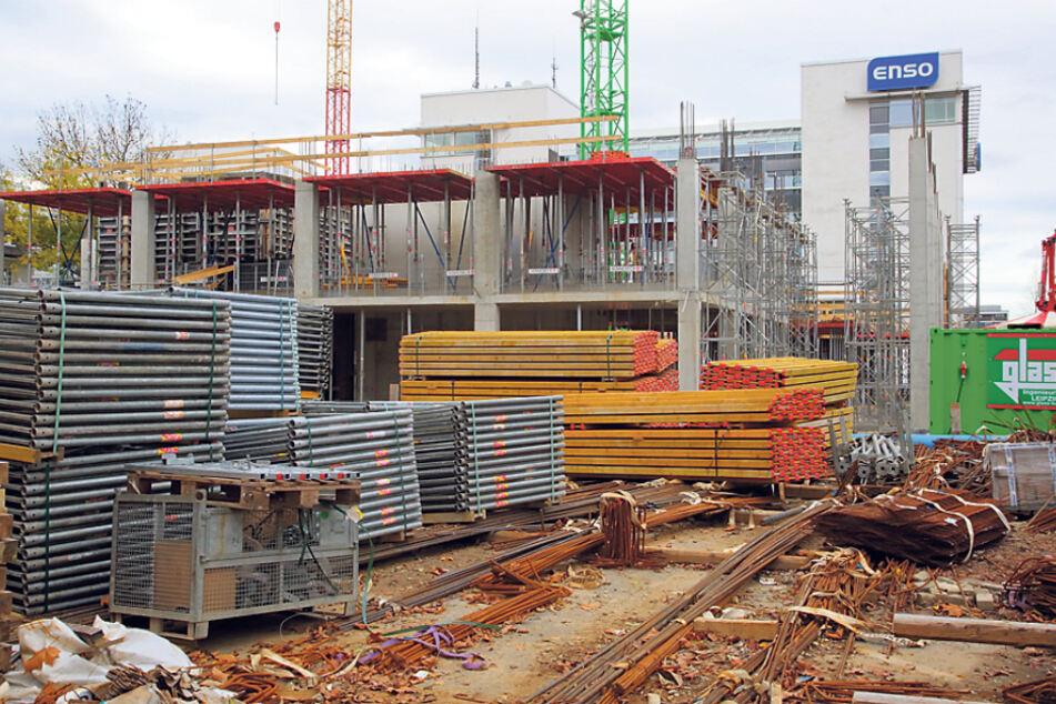 Aktuell bauen DREWAG und ENSO am Hauptbahnhof ihre neue gemeinsame Zentrale.