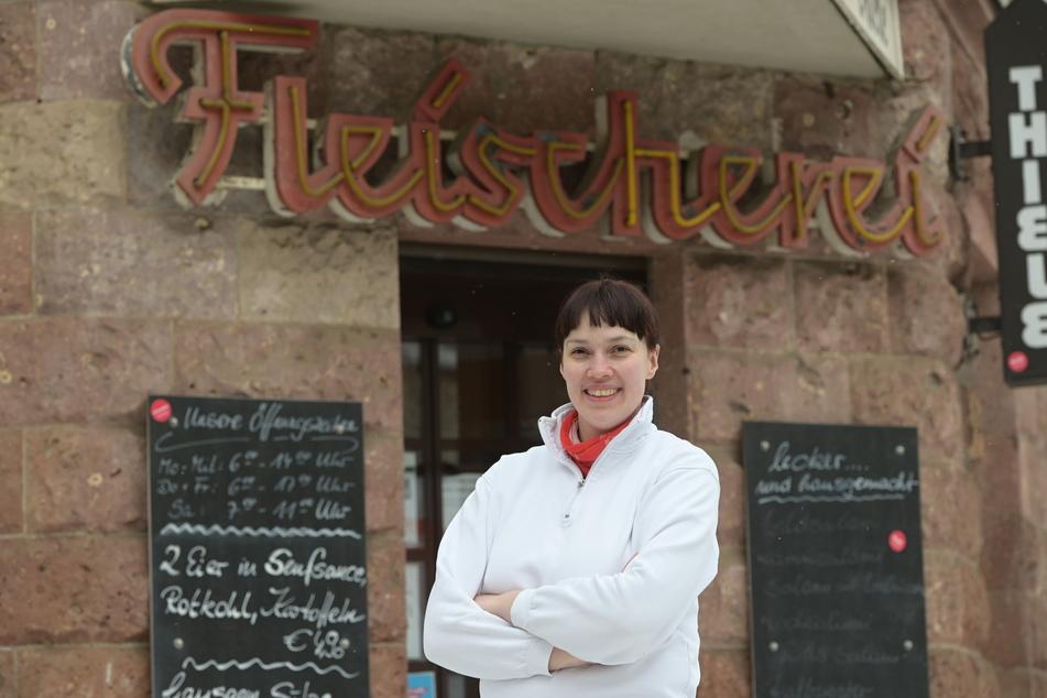 Fleischermeisterin Nora Seitz (36, CDU) will für Chemnitz in den Bundestag einziehen.